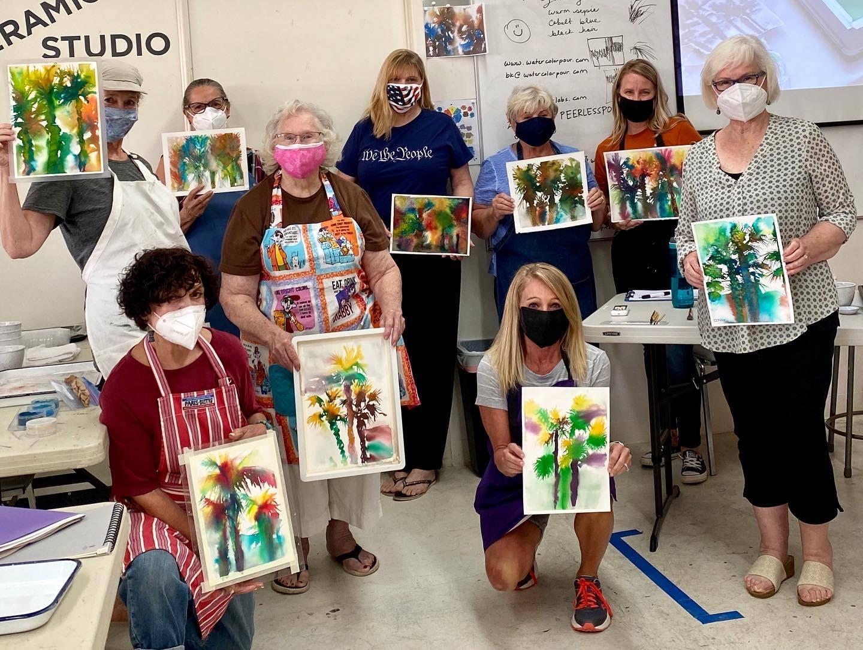 Watercolor Pour Class