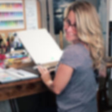 Buffy Kaufman Watercolor Pour Artist