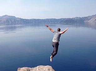 cliff diving in crater lake national par