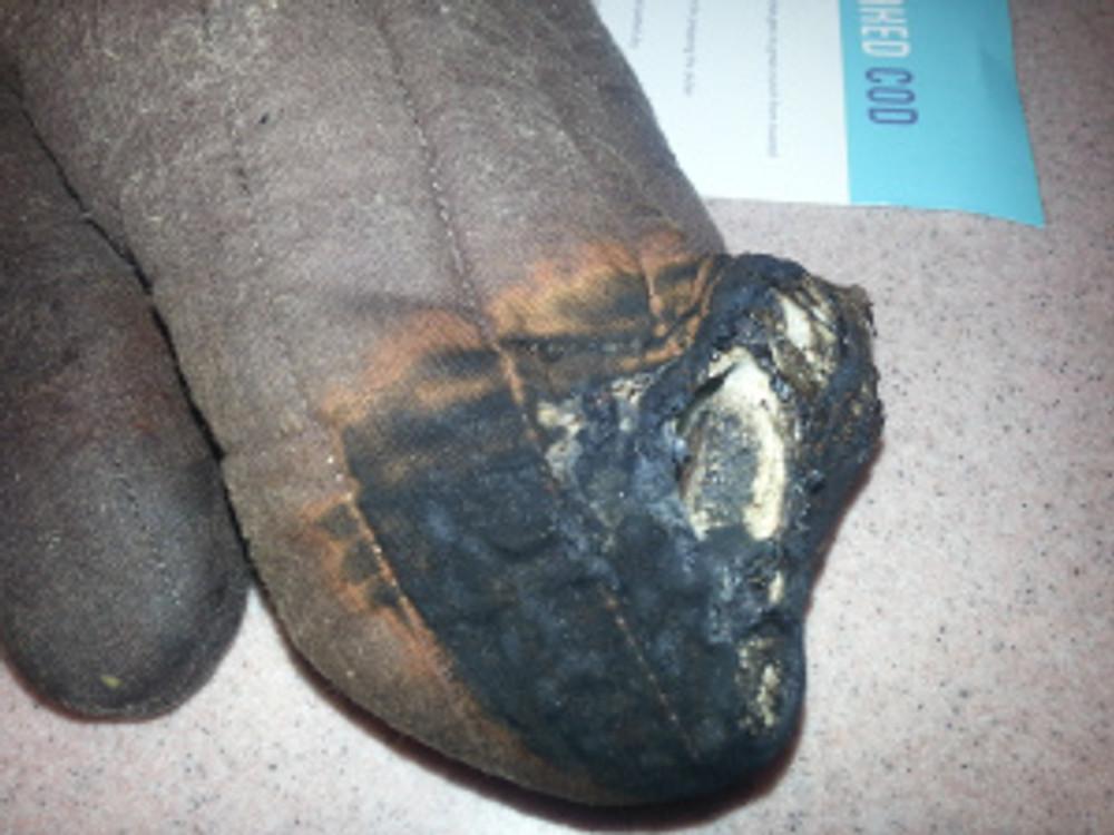 Burnt Oven Mitt