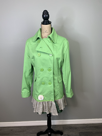 Upcycled Neon Green Fall Jacket