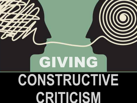Giving Constructive Criticism