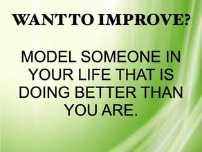 Model Your Life After Someone Who Is Doing Better Than You