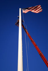 Communications American Flag Pole