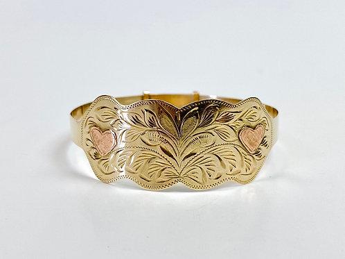 Gold Engraved Bracelet