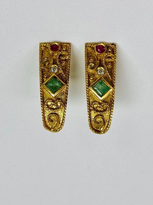 Unique 18k Earrings
