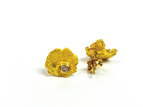 Organic Gold and Diamond Studs