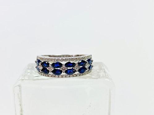 Stunning Sapphire and Diamond Band