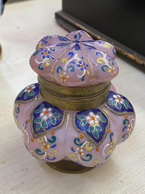 Antique Wavecrest Lidded Jar