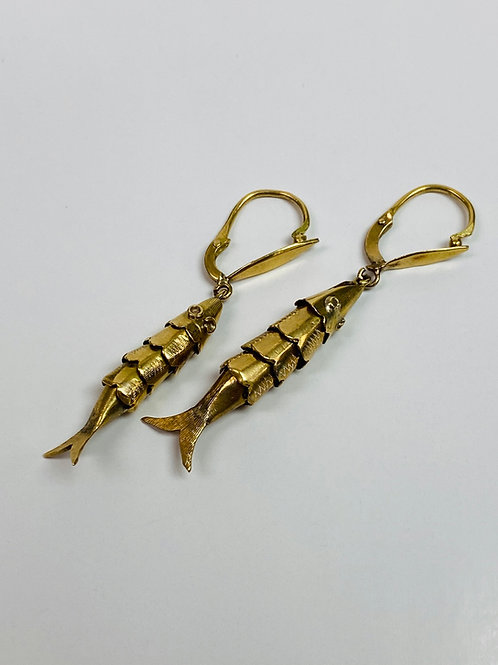 Articulated Fish Earrings