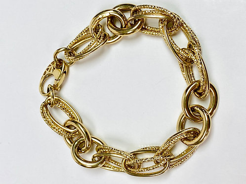 Gold Double Link Bracelet