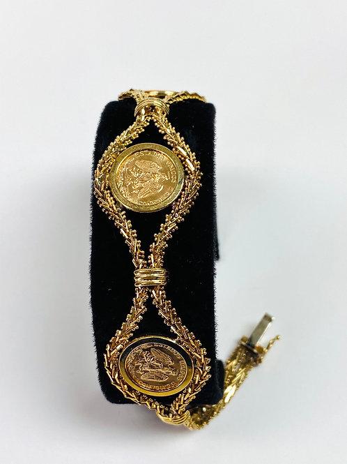 Gold Peso Bracelet