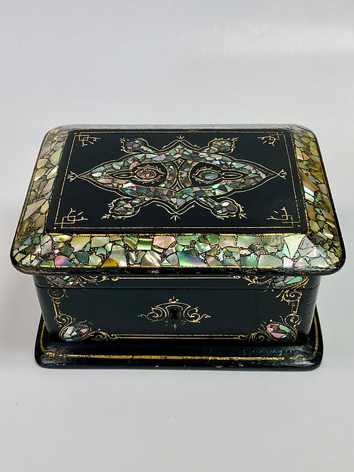 Antique Abalone Box