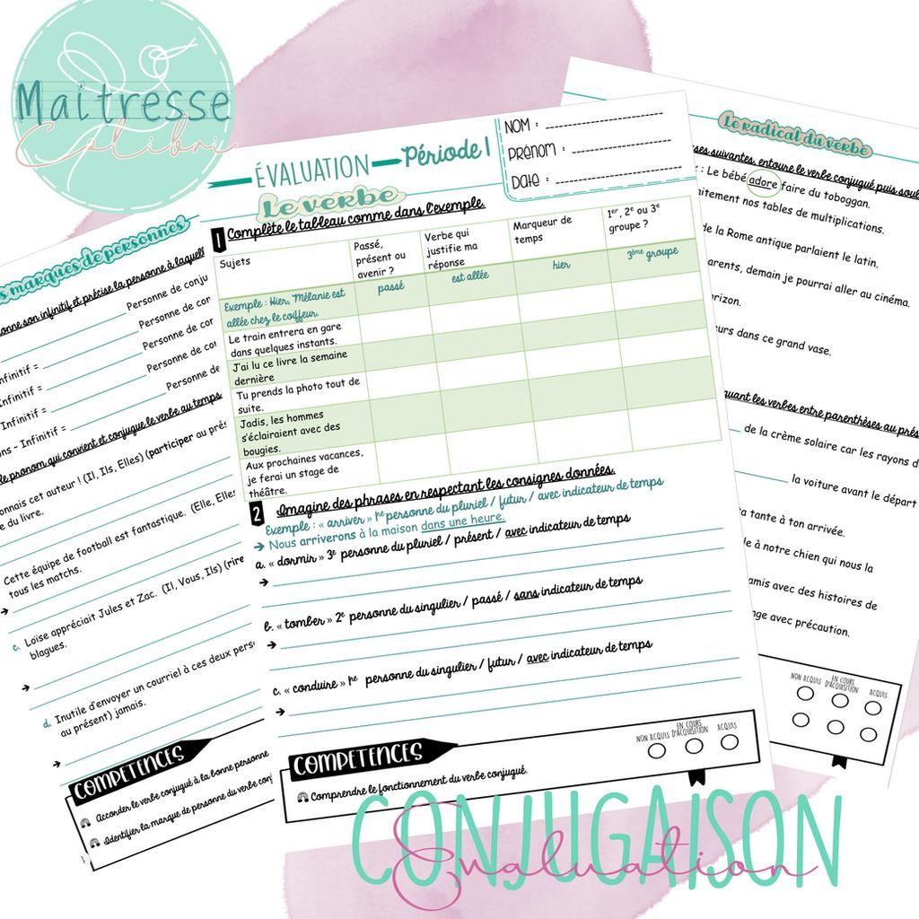 Evaluations Conjugaison Cm1 Cm2