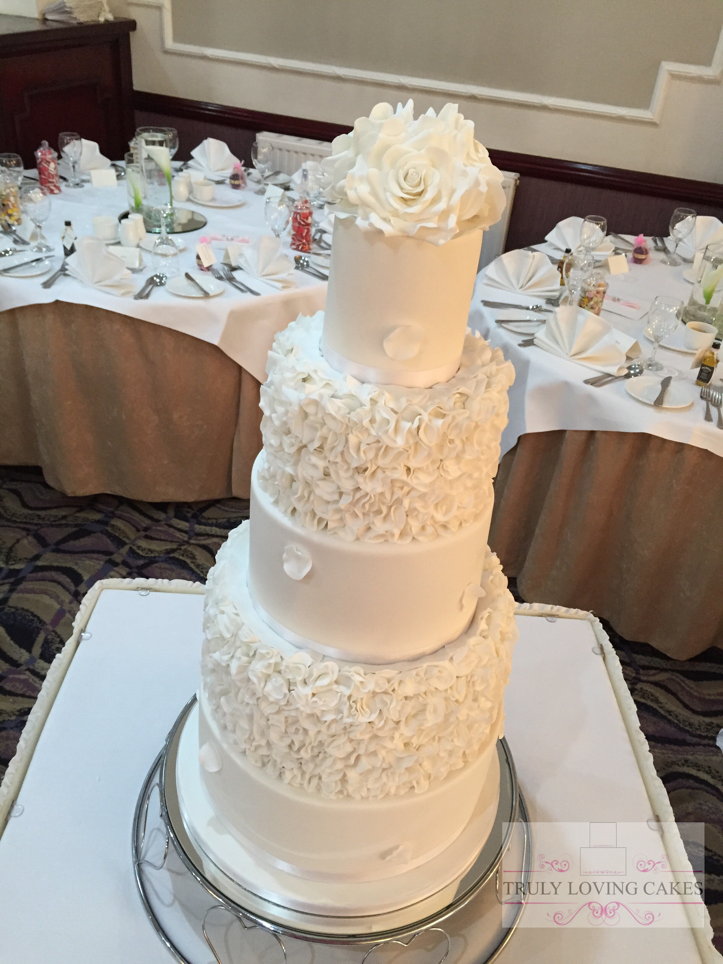 Ruffle & Rose wedding cake - Copy