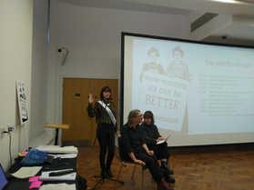 Caroline Pankhurst and Gemma Nash kick off the annual event