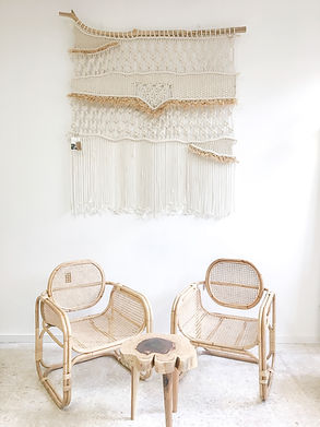 Macramé by TEX MB | Furniture & Photo by Mahana Homestory