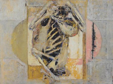 Bird Skeleton - Pink and Gold