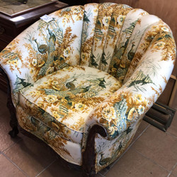Vintage peacock club chair