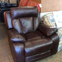 red brown electric leather recliner