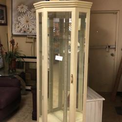 2- 30 inch curio cabinets