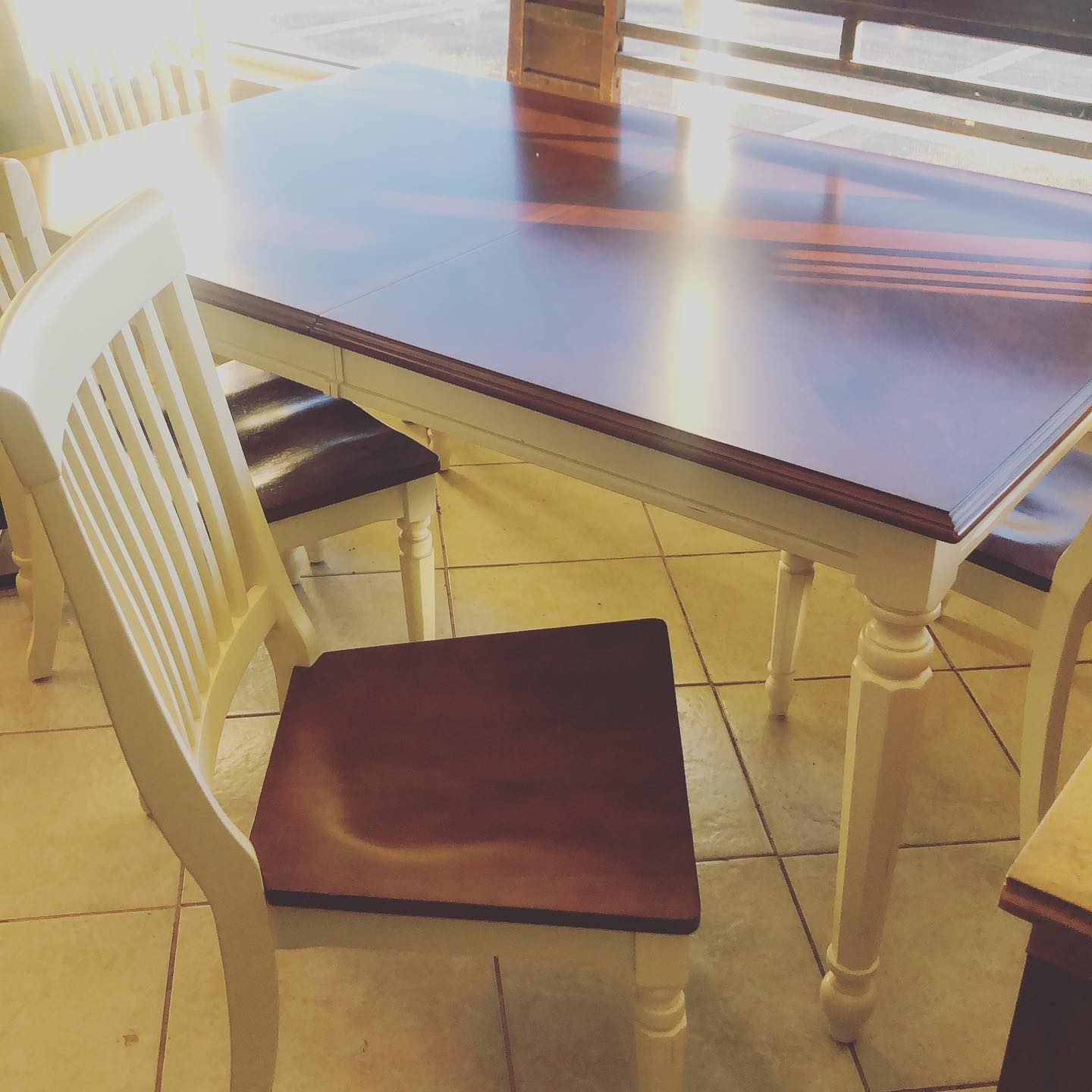Crate and Barrel Dining Set with butterf