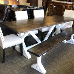 Custom Barnwood Table set