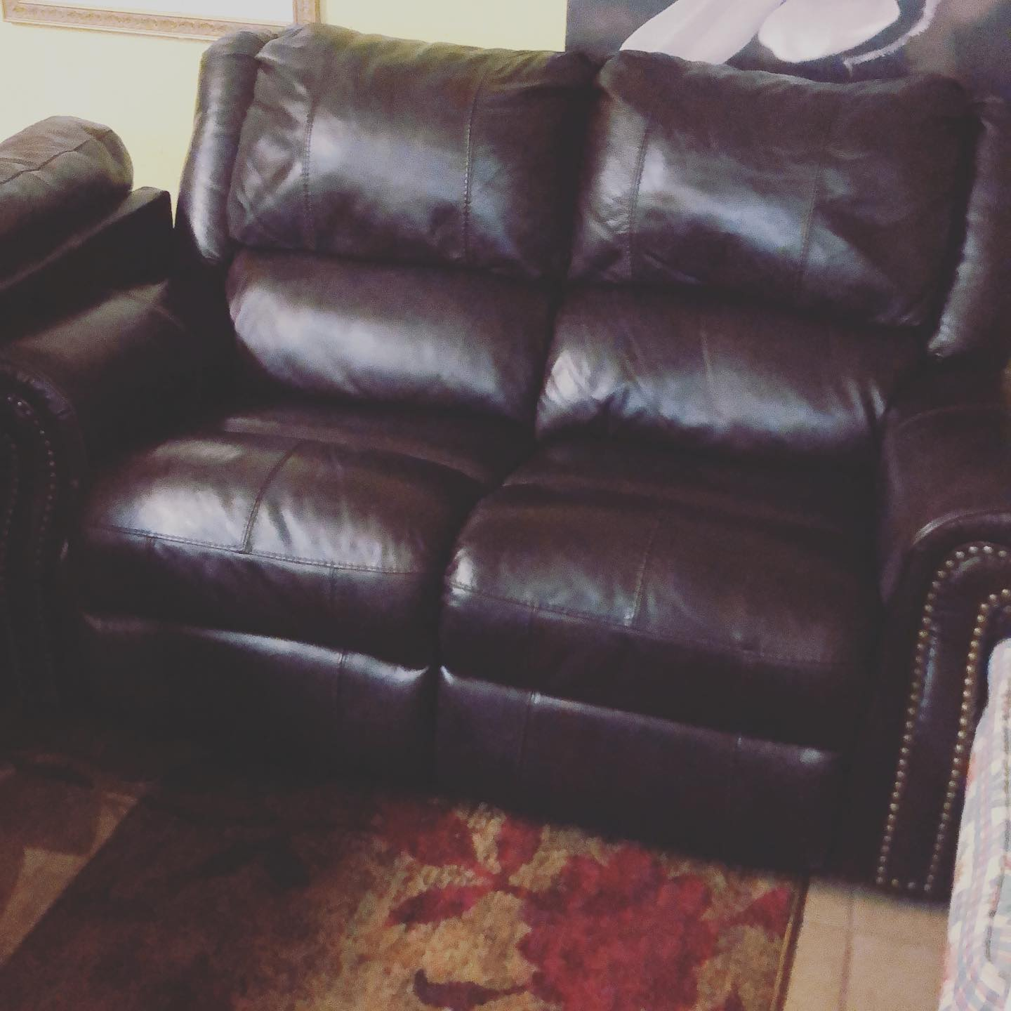 electric reclining love seat