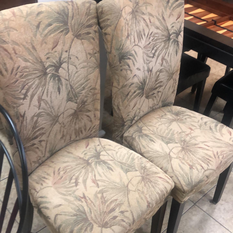 pair tropical chairs