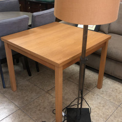 slat wood table 2 leafs