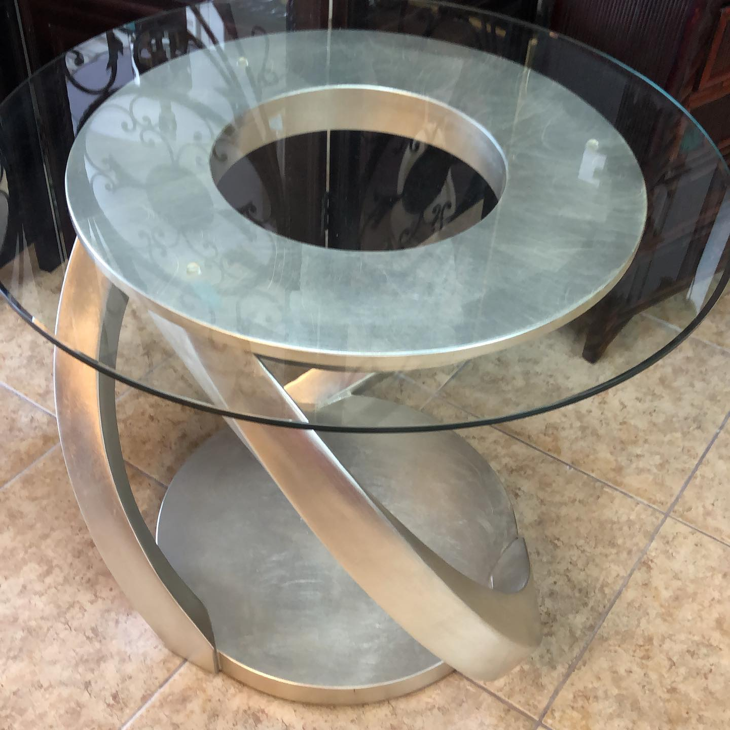 30 inch modern glass end table