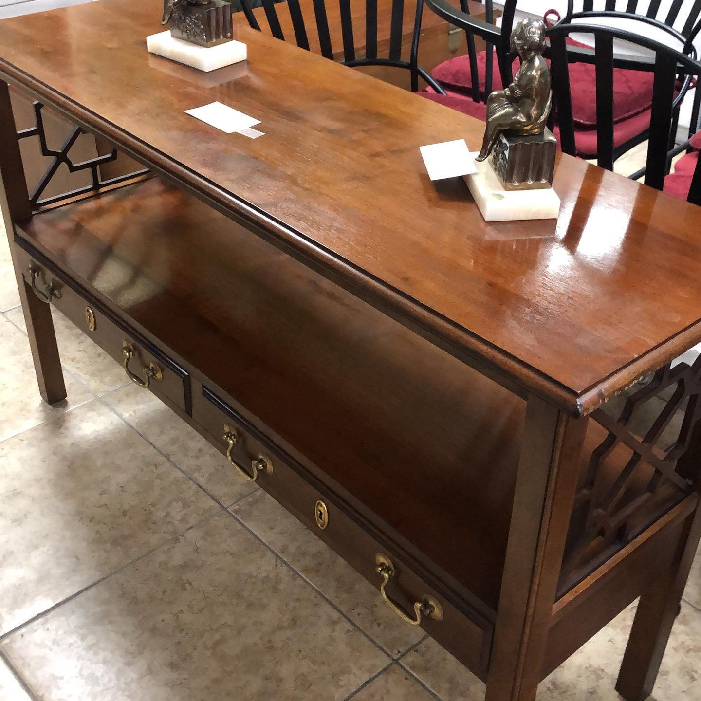 vintage cherry console-foyer table