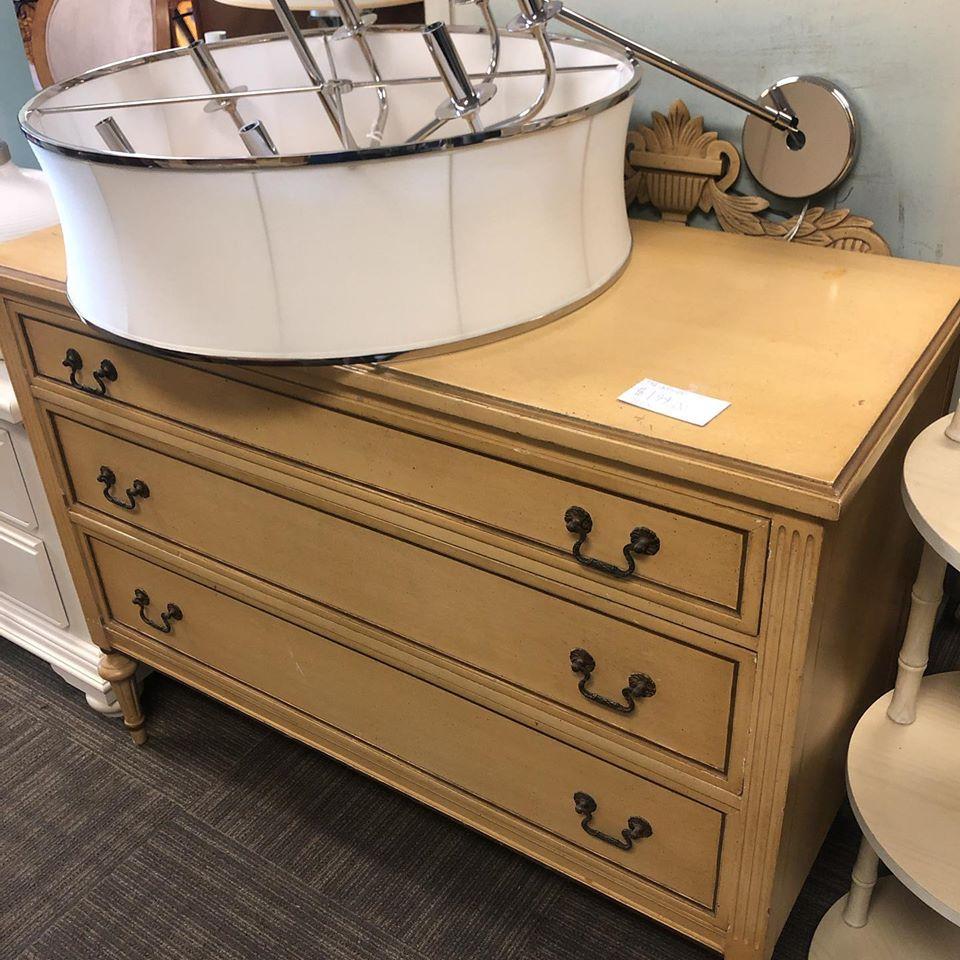 3 drawer french provincial dresser