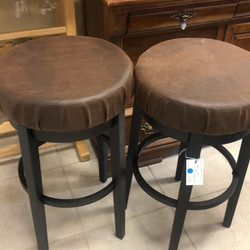 3 leather 30 inch stools