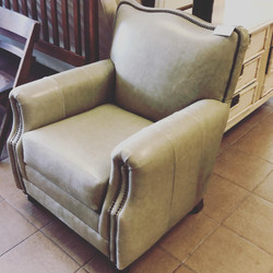 Norwalk Leather Living Room Chair