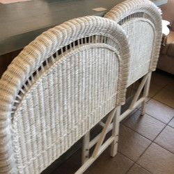 Twin wicker headboards