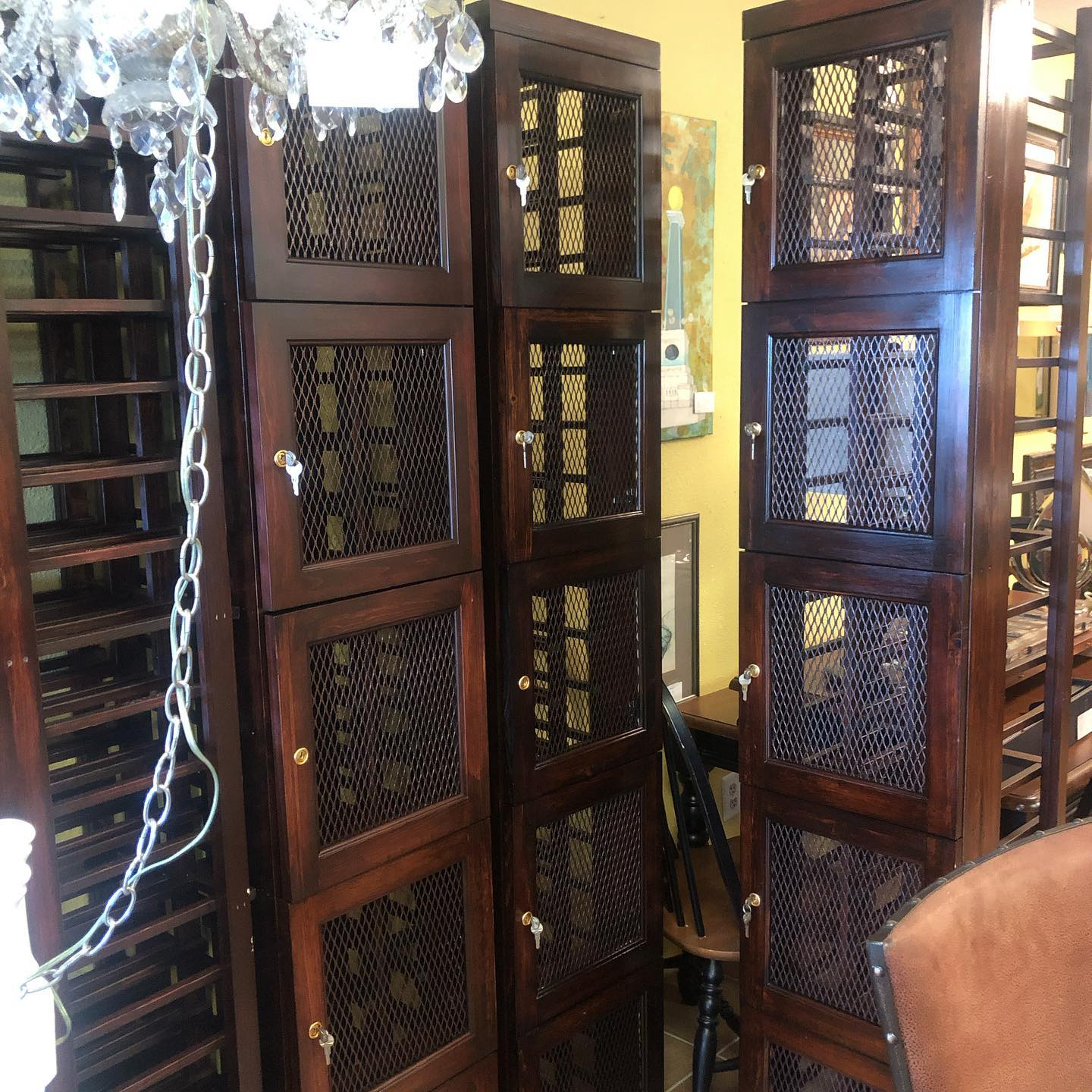 Custom wine lockers