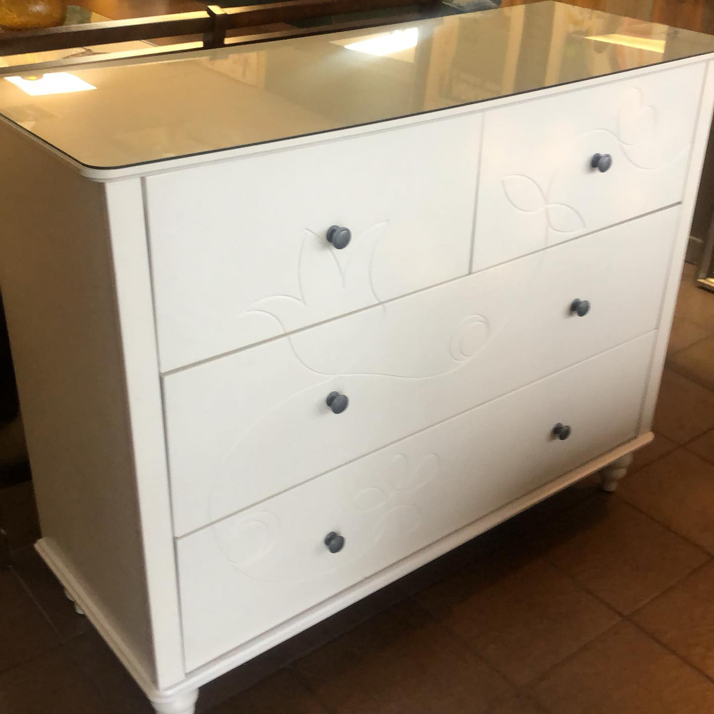 white deep drawer dressser
