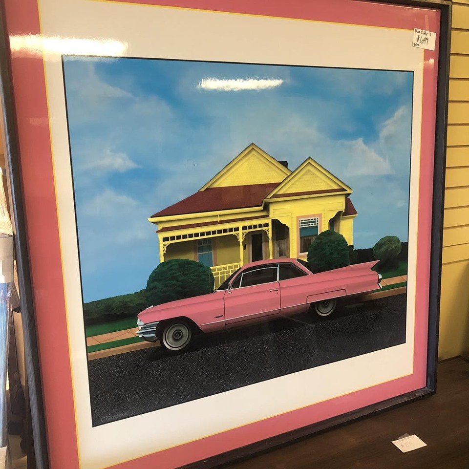 Giclee Print - Pink Caddy encased in Res