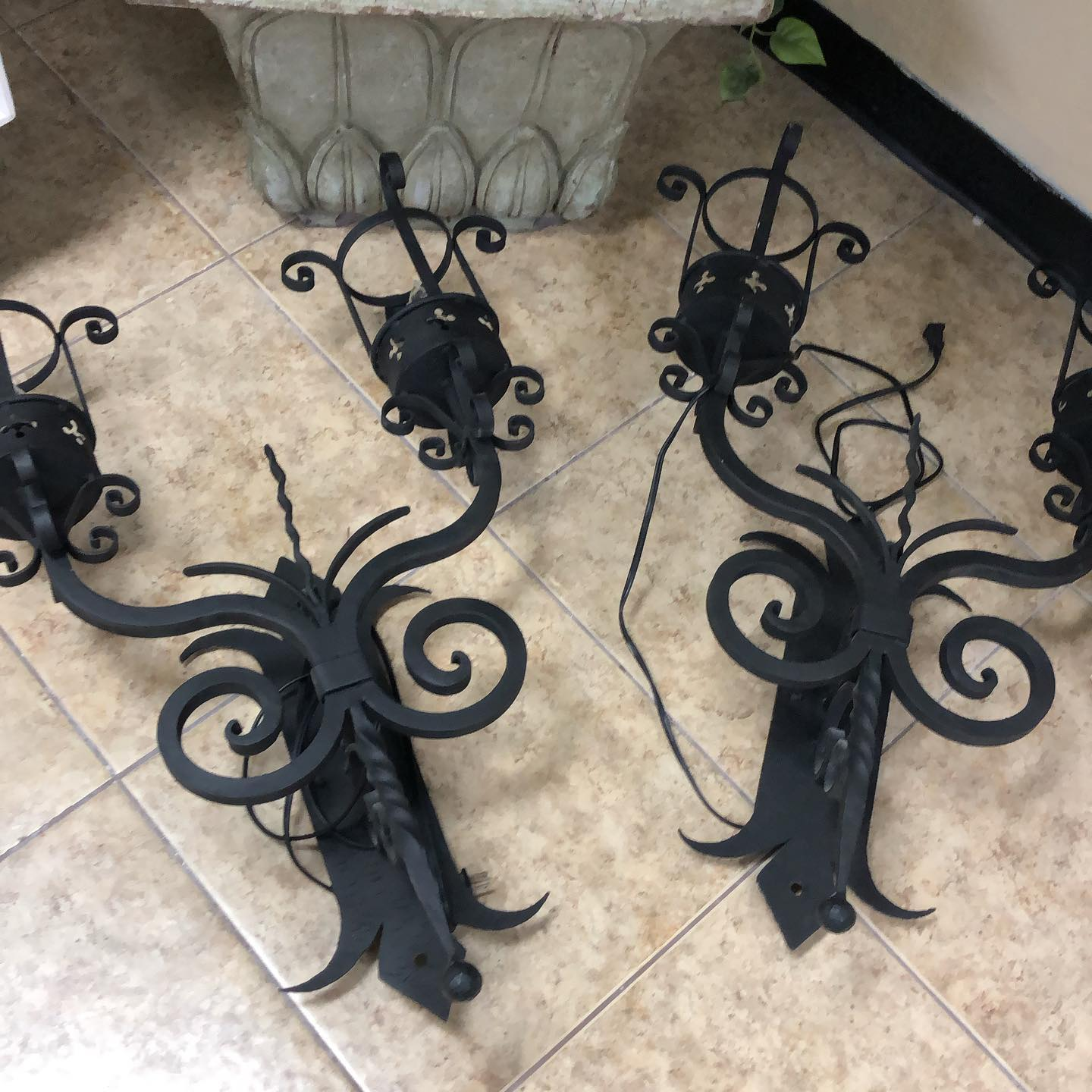 set 2 gothic 30 inch electric candelabra