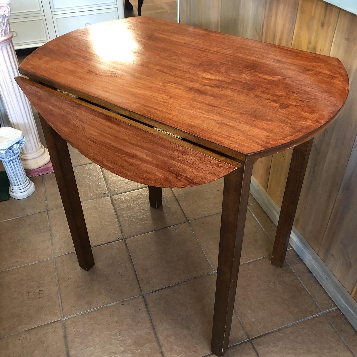 counter height dropleaf table