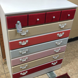 multi color chest of drawers