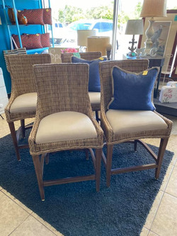 woven wicker counter height stools