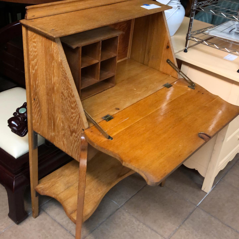 oak secretary 30 inch