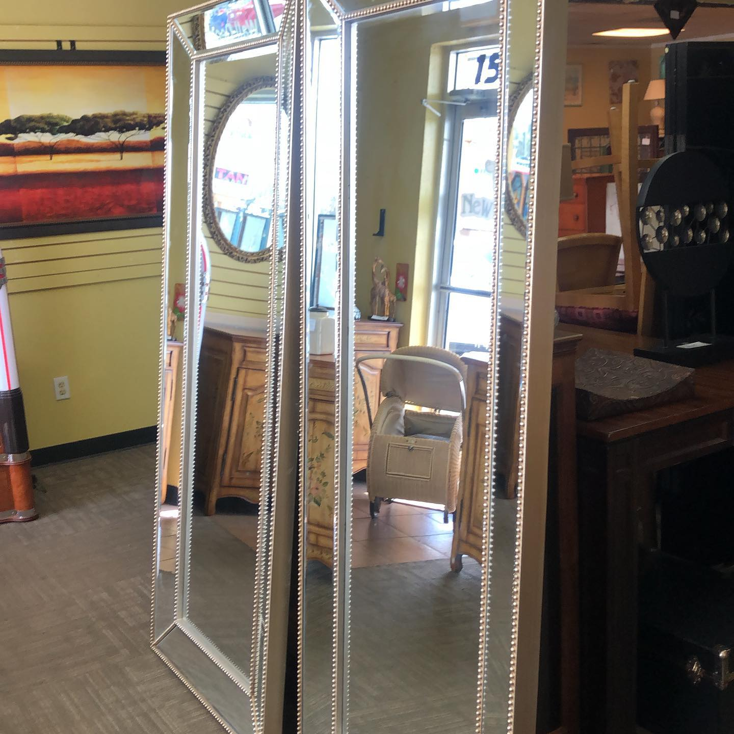 buttoned 6.5 foot floor mirrors