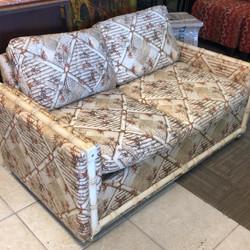 Vintage rattan love seat