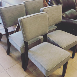 grey contemporary dining chairs