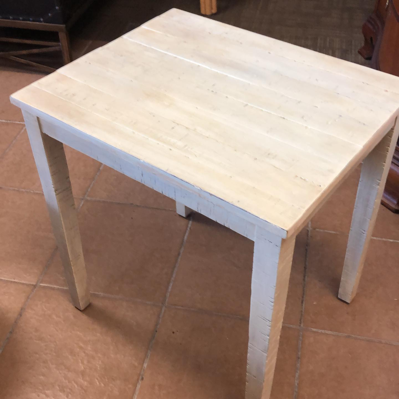 beachy wood end table