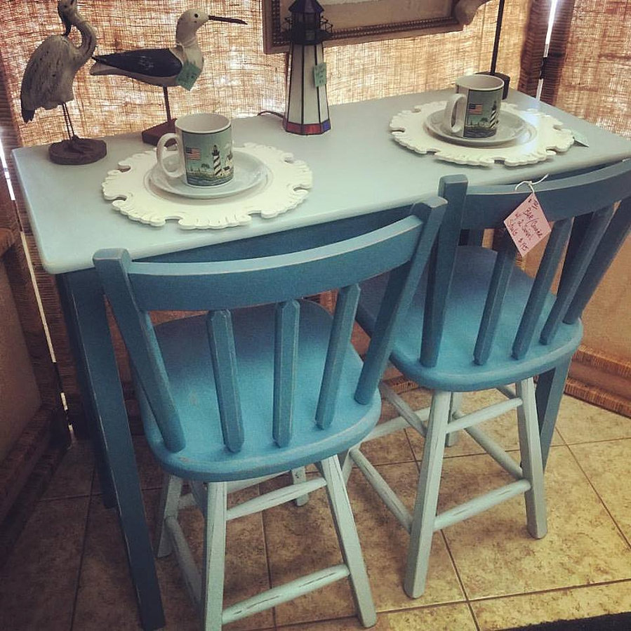 gallery ce6m beachy kitchen table Beachy Counter Height Kitchen Table Set 2 swivel stools