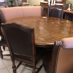 72 round dining table with 4 chairs and